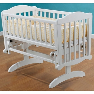 Sorelle Dondola Gliding Cradle with Mattress - White