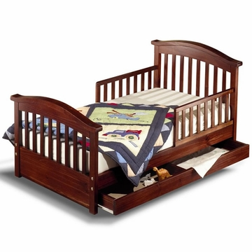 Sorelle Joel Solid Pine Toddler Bed - Cherry