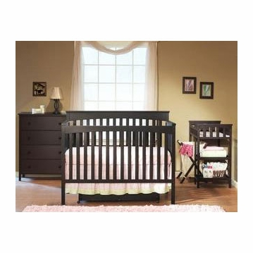 SB2 Petite Paradise Kids' Nursery Room in A Box in Espresso