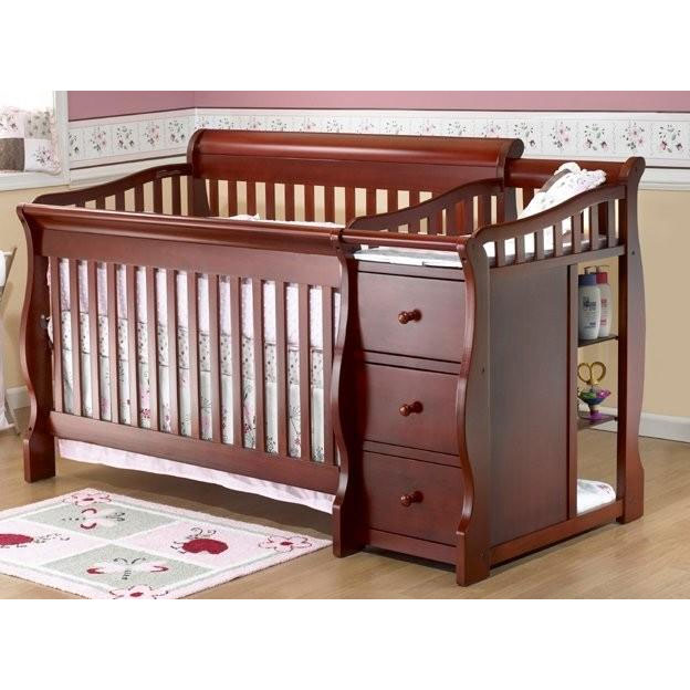 Sorelle Tuscany 4 in 1 Convertible Crib bo in Cherry