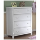 Sorelle Tuscany/Princeton 4 Drawer Dresser in White