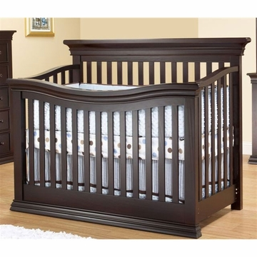 Sorelle Verona Flat Panel Crib in Espresso