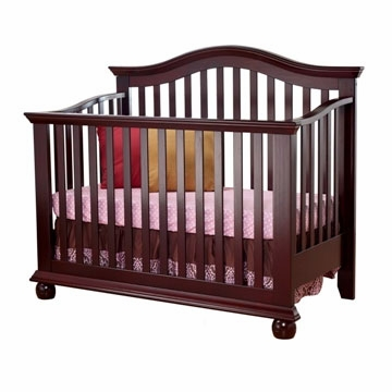 Sorelle Vista 4 in 1 Crib with Toddler Rail in Espresso