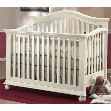 Sorelle Vista 4 in 1 Crib with Toddler Rail in French White