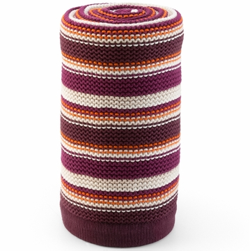 Stokke Knitted Blanket - Purple & Orange