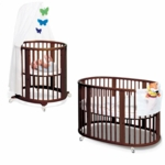 Stokke Sleepi System 1 Bassinet and Crib Set in Walnut
