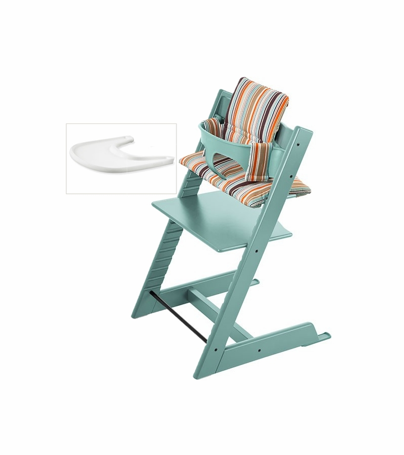 stokke tripp trapp bundle aqua signature stripe. Black Bedroom Furniture Sets. Home Design Ideas