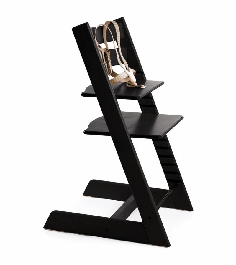 stokke tripp trapp high chair in black. Black Bedroom Furniture Sets. Home Design Ideas