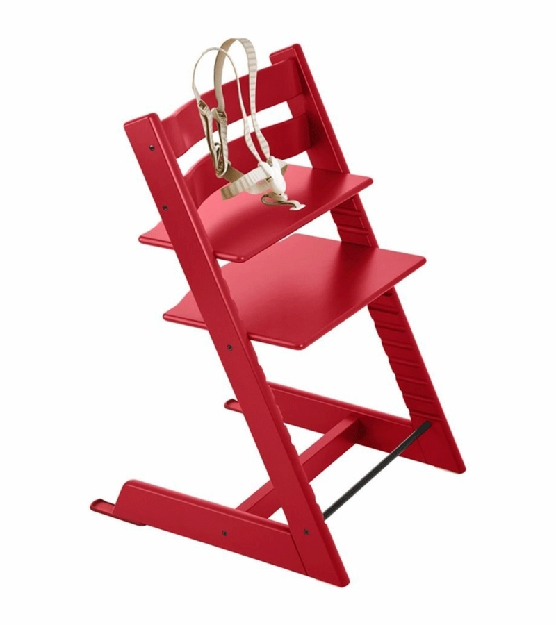 stokke tripp trapp high chair in red. Black Bedroom Furniture Sets. Home Design Ideas
