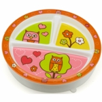 Sugar Booger Hoot! Divided Suction Plate