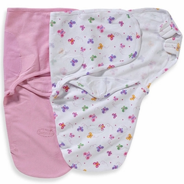 Summer Infant 2-Pack Cotton SwaddleMe Blanket (S/M) - Butterflies
