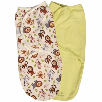 Summer Infant 2-Pack Cotton Swaddleme, Small/Medium - Jungle Buddies