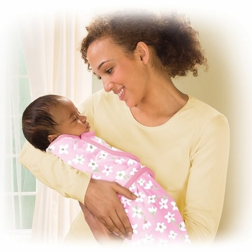 Summer Infant 2-Pack Microfleece Swaddleme, Small - Meadow Pink