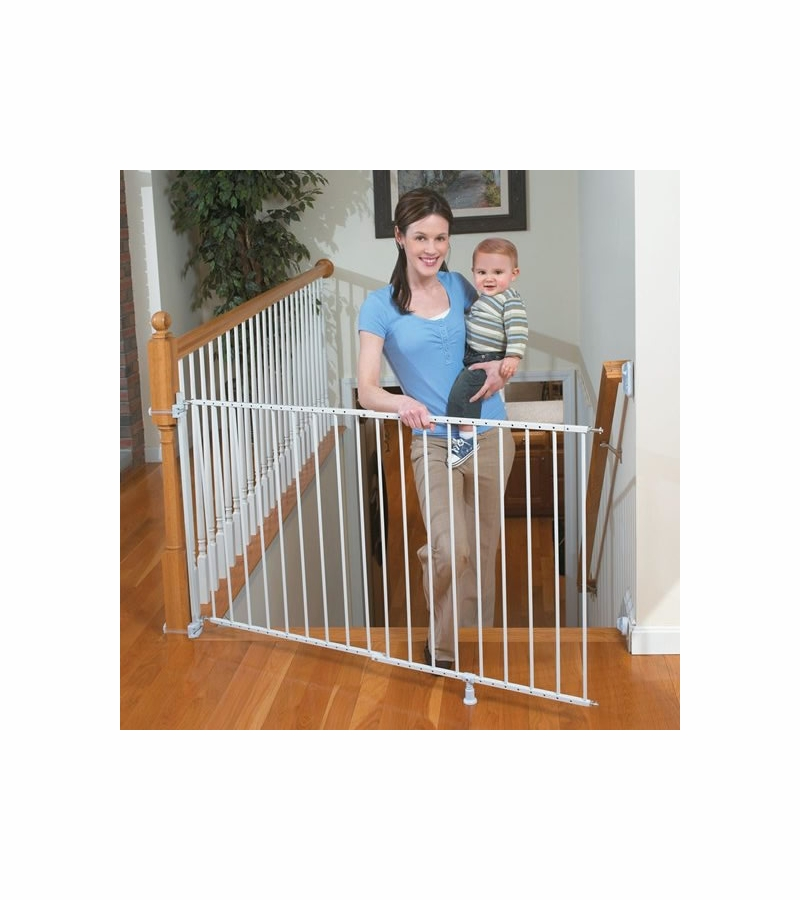The Top Of Stairs Extra Tall Gate With Banister Kit