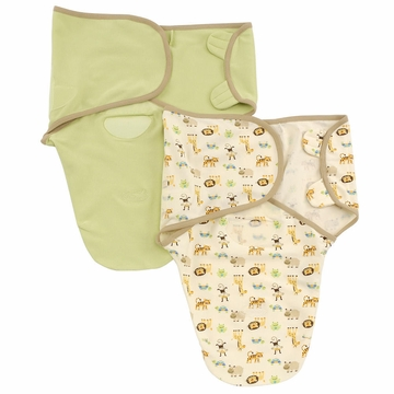 Summer Infant SwaddleMe Organic Cotton 2-Pack Combo - Sage & Zoo, Small