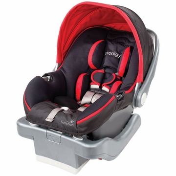 Summer Infant Prodigy Infant Car Seat - Jet Set/Red