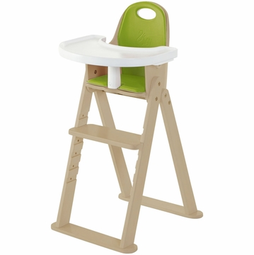 Svan Baby to Booster High Chair - Natural/Lime