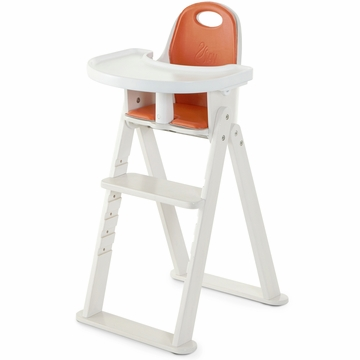 Svan Baby to Booster High Chair - Whitewash/Tangerine
