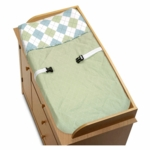 Sweet JoJo Designs Argyle Green & Blue Changing Pad Cover