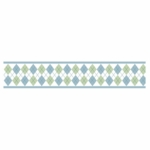 Sweet JoJo Designs Argyle Green & Blue Wallpaper Border
