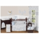 Sweet JoJo Designs Avery Gray & Blue 9 Piece Crib Bedding Set