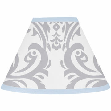 Sweet JoJo Designs Avery Gray & Blue Lamp Shade