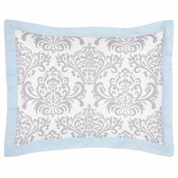 Sweet JoJo Designs Avery Gray & Blue Pillow Sham