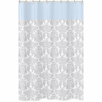 Sweet JoJo Designs Avery Gray & Blue Shower Curtain