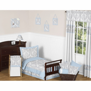 Sweet JoJo Designs Avery Gray & Blue Toddler Bedding Set