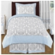 Sweet JoJo Designs Avery Gray & Blue Twin Bedding Set