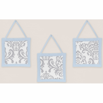Sweet JoJo Designs Avery Gray & Blue Wall Hangings