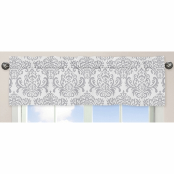 Sweet JoJo Designs Avery Gray & Blue Window Valance