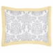 Sweet JoJo Designs Avery Gray & Yellow Pillow Sham