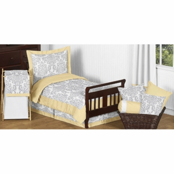 Sweet JoJo Designs Avery Gray & Yellow Toddler Bedding Set