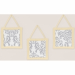 Sweet JoJo Designs Avery Gray & Yellow Wall Hangings