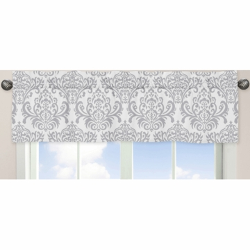 Sweet JoJo Designs Avery Gray & Yellow Window Valance