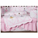 Sweet JoJo Designs Ballerina 9 Piece Crib Bedding Set