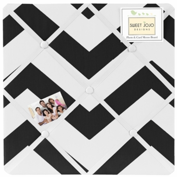 Sweet JoJo Designs Black & White Chevron Fabric Memo Board