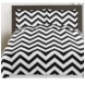 Sweet JoJo Designs Black & White Chevron Twin Bedding Set