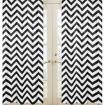Sweet JoJo Designs Black & White Chevron Window Panels - Set of 2