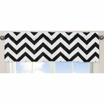 Sweet JoJo Designs Black & White Chevron Window Valance