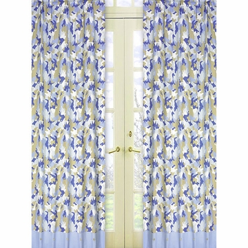Sweet JoJo Designs Camo Blue Window Panels - Set of 2