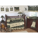 Sweet JoJo Designs Camo Green 9 Piece Crib Bedding Set