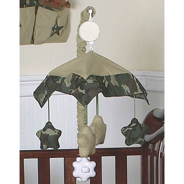 Sweet JoJo Designs Camo Green Musical Mobile