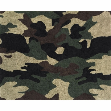 Sweet JoJo Designs Camo Green Rug