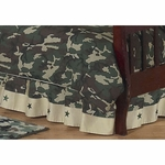 Sweet JoJo Designs Camo Green Toddler Bed Skirt