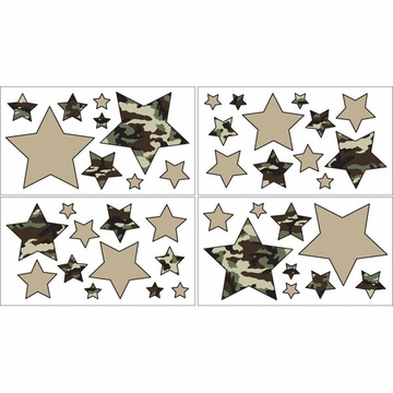 Sweet JoJo Designs Camo Green Wall Decals