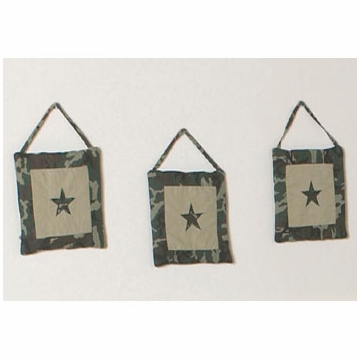 Sweet JoJo Designs Camo Green Wall Hangings