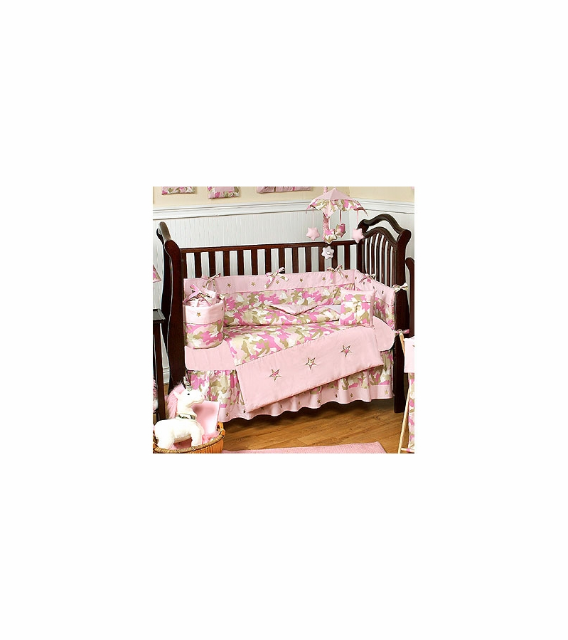 Image Of Elegant Pink Camo Baby Bedding Bassinet To Crib