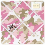 Sweet JoJo Designs Camo Pink Fabric Memo Board